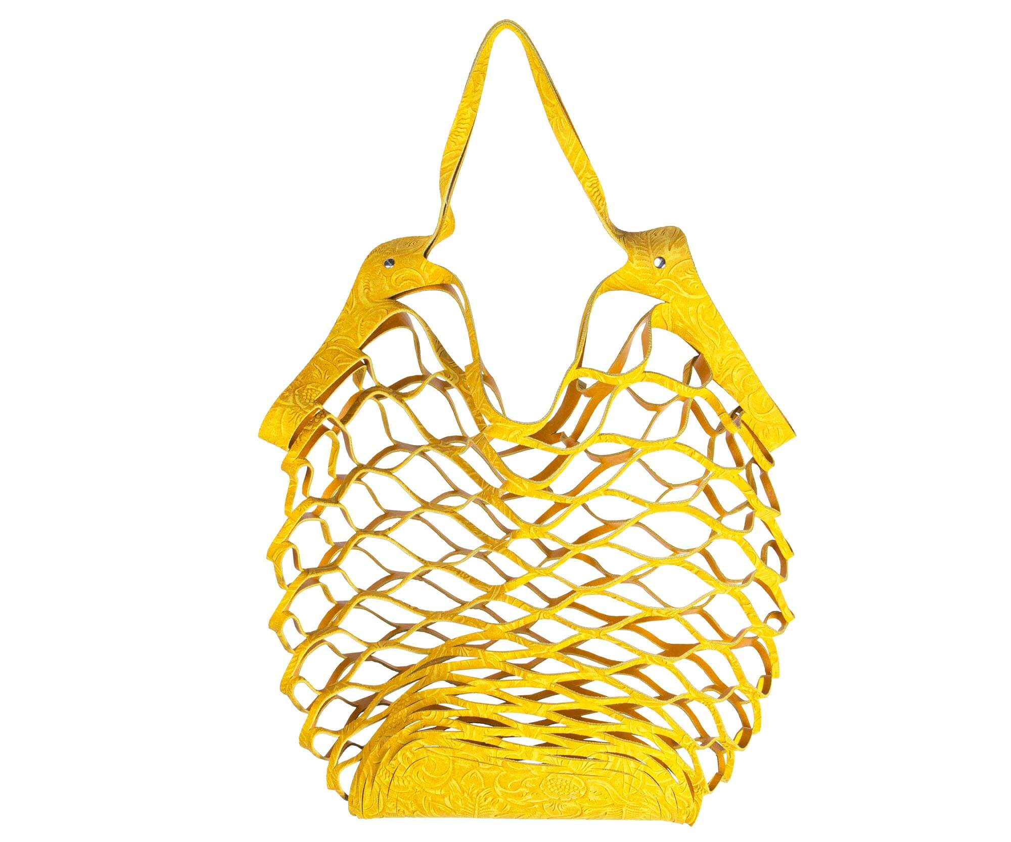 Vanzetti cut out bag yellow