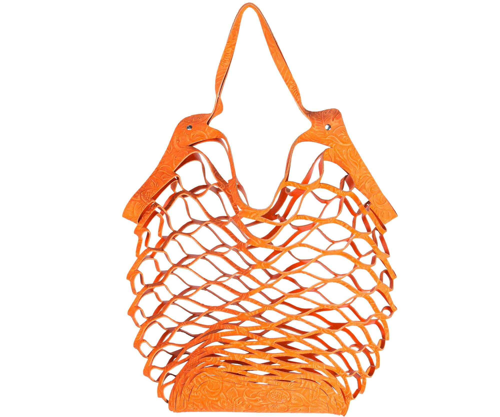 Vanzetti cut out bag oranje