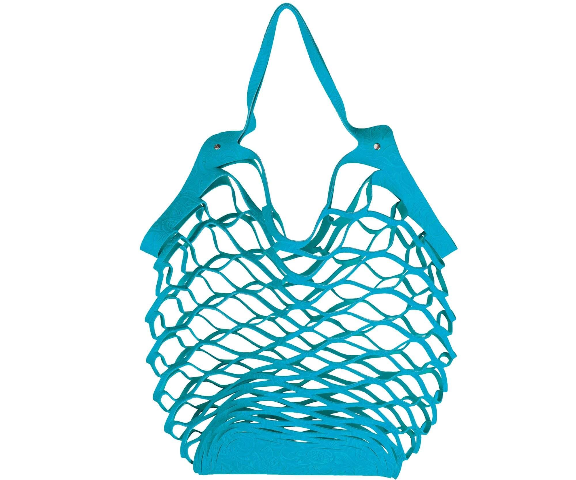 Vanzetti cut out bag blue