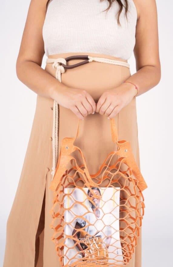 Vanzetti cut out bag orange